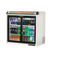TRUE GDM-9E back bar compact cooler with undercounter glass doors
