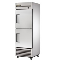 TRUE T-23F-2 reach-in freezer, two stainless steel half doors