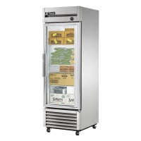 TRUE T-23FG reach-in freezer, one glass door