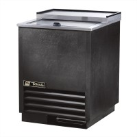 TRUE T-24-GC glass and plate froster with black vinyl exterior