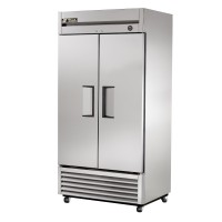 TRUE T-35 reach-in refrigerator, two stainless steel doors