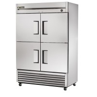 TRUE T-49-4 reach-in refrigerator, four stainless steel half doors