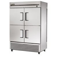 TRUE T-49-4PT pass-through reach-in refrigerator, six stainless steel doors
