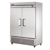 TRUE T-49 reach-in refrigerator, two stainless steel doors
