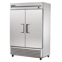 TRUE T-49F reach-in freezer, two stainless steel doors