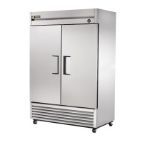TRUE T-49FZ reach-in freezer, two stainless steel doors