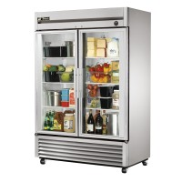TRUE T-49G reach-in refrigerator, two glass doors