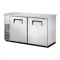 TRUE TBB-24-60-S back bar compact cooler with stainless steel exterior