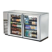 TRUE TBB-24GAL-60G-S back bar compact cooler with stainless steel exterior and glass doors