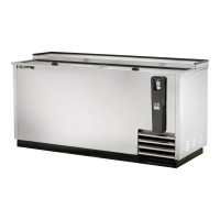 TRUE TD-65-24-S deep well horizontal bottle cooler with stainless steel exterior