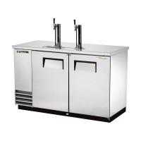 TRUE TDD-2-S direct draw beer dispenser with stainless steel exterior