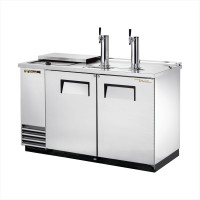 TRUE TDD-2CT-S club top direct draw beer dispenser with stainless steel exterior