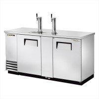 TRUE TDD-3-S direct draw beer dispenser with stainless steel exterior