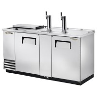 TRUE TDD-3CT-S club top direct draw beer dispenser with stainless steel exterior