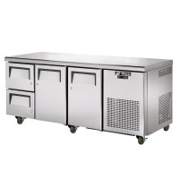 TRUE TGU-3D-2 gastronorm undercounter drawered refrigerator