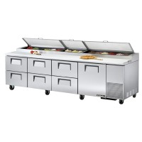 TRUE TPP-119D-6 pizza prep table drawered refrigerator