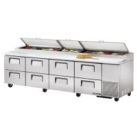 TRUE TPP-119D-8 pizza prep table drawered refrigerator