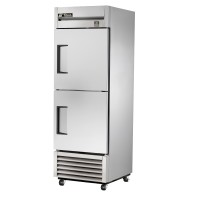 TRUE TS-23F-2 reach-in freezer, two stainless steel half doors