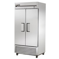 TRUE TS-35 reach-in refrigerator, two stainless steel doors
