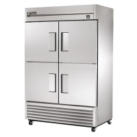 TRUE TS-49F-4 reach-in freezer, four stainless steel half doors