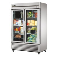 TRUE TS-49G reach-in refrigerator, two glass doors