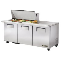TRUE TSSU-72-18M-B sandwich or salad unit mega-top refrigerator