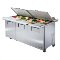 TRUE TSSU-72-30M-B-DS-ST dual-sided sandwich or salad unit refrigerator