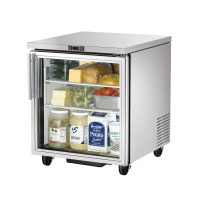 TRUE TUC-27G glass door undercounter refrigerator