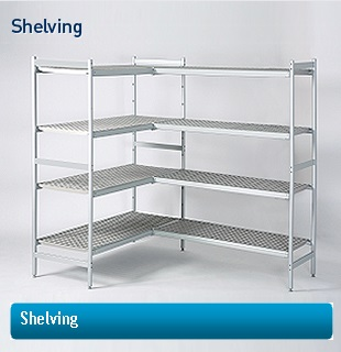 Modular cold room shelving