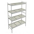Italmodular 4 tier storage shelving 1304x577mm