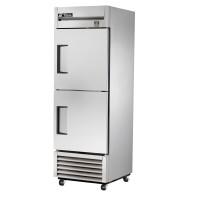 TRUE TS-23F-2 reach-in freezer, two stainless steel half doors