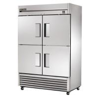 TRUE TS-49-4 reach-in refrigerator, four stainless steel half doors