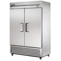 TRUE TS-49 reach-in refrigerator, two stainless steel doors