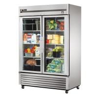 TRUE TS-49G reach-in refrigerator, two glass doors