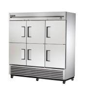 TRUE TS-72-6 reach-in refrigerator, six stainless steel half doors