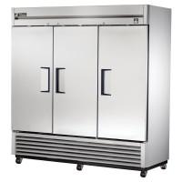 TRUE TS-72 reach-in refrigerator, three stainless steel doors