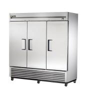 TRUE TS-72F reach-in freezer, three stainless steel doors