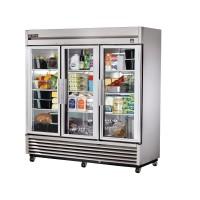 TRUE TS-72G reach-in refrigerator, three glass doors
