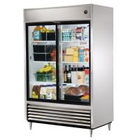 TRUE TSD-47G slide door reach-in refrigerator, two glass doors