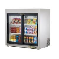 TRUE TSD-9G slide door reach-in refrigerator, two glass doors