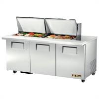 TRUE TSSU-72-24M-B-ST sandwich or salad unit mega-top refrigerator