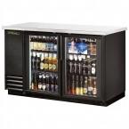 True TBB-2G back bar cooler with glass doors